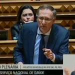 Intervenção de João Prata, no Plenário, sobre o Serviço Nacional de Saúde